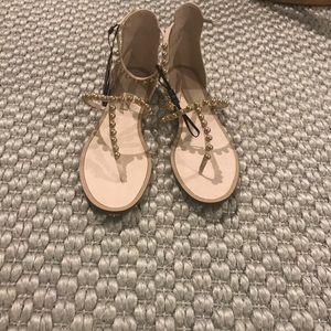 Never worn zara t-strap sandal